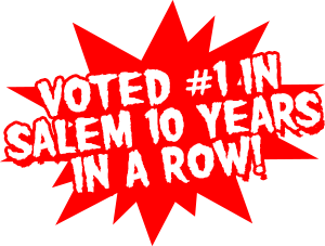 Voted #1 in Salem 10 Years in a Row!